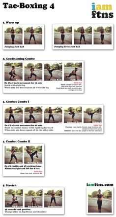 Punch and Kick your calories with this Tae-Boxing workout by iamftns.com