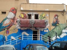 Ericailcane + Blu + Socrate in Bari, Italy 2012 - street art