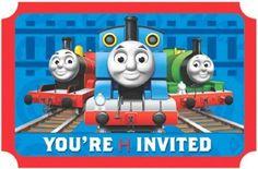 Thomas The Tank Invitations Train Birthday