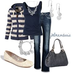 Love the stripes and navy!