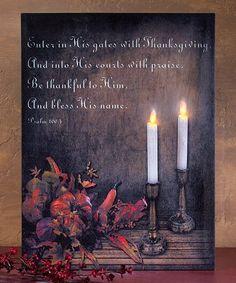 Look what I found on #zulily! Thanksgiving Light-Up Canvas #zulilyfinds