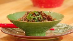 Spicy Sesame-Soy Soba  Sliced Steak