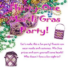 Goonan S Creations Www Mythirtyone Jgoonan Mardi Gras Theme Thirty One Party