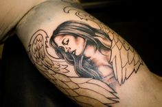 yellowphog #tattoos #angel #designs #wings #tattoo Tatoos, Wings, Angel, Amazing, Design, Women, Women's, Angels, Feathers
