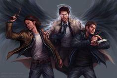 Image result for supernatural fan art
