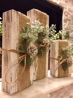 Cute rustic wooden Christmas Blocks are great for a rustic decor look. The blocks start at 10in. 8in. and 6in. You can stack them however you like! You can customize the color of the wood if youd like. The decor will stay the same. Your sign will be unique in its own way. Slight