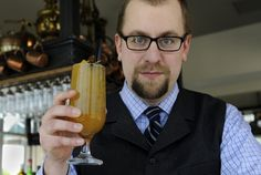 """How to make a brown Betty: 1 1/4 ounces Redemption High-Rye bourbon 1 ounce orange liqueur or Tim Riley's easy orange cordial (see recipe below) 3/4 ounce El Dorado 12-year-old rum 1/2 ounce freshly squeezed lemon juice 1/4 ounce freshly pressed pineapple juice 1/4 ounce Fernet Branca Orange peel Maraschino cherry Add first six ingredients to a footed highball glass and fill with crushed ice. """"Swizzle"""" the cocktail with a swizzle stick or bar spoon, twisting the stick or spoon between your…"""