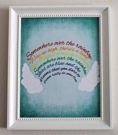 8x10 Somewhere Over the Rainbow Nursery Art Print on Etsy, $15.00