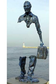 See thru statues by Bruno Catalano.... See more here: http://www.justfollowthewhiterabbit.com
