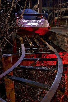 Abandoned roller coaster. Mad Mouse has always been one of my favorite rides.