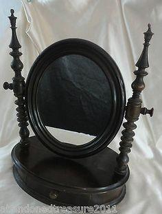Antique Mahogany Shaving Mirror
