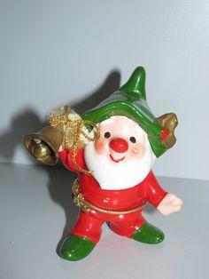 Vintage 1950's Christmas Elf Holiday Elves, Santa Claus Pixie,  Napcoware X-Mas retro 50's Decoration classic 50's Gnome, nostalgic memories