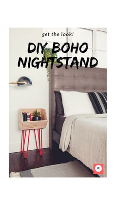 Get the look of this DIY Boho Nightstand! To get started, you will need: -Rust… Get the look of this DIY Boho Nightstand! To get started, you will need: -Rust Oleum – Apple Red spray paint -Lacquer thinner -Screw driver -Rag -Stackable wood bin Hippy Room, Hippie Room Decor, Boho Room, Diy Furniture Videos, Furniture Projects, Diy Projects, Boho Style Decor, Bohemian Decor, Bohemian Style