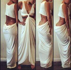 Greek/Roman elegant toga look simple Toga Dress, Dress Up, Draped Dress, Diy Dress, Fashion Killa, Runway Fashion, Diy Fashion, Fashion Ideas, Toga Party Costume