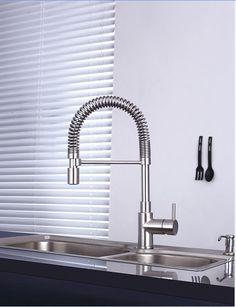 apm az di Gravellona Tocce DUNA MOLLONE (h 46) miscelatore lavello con doccia estraibile in acciaio inox - Bagno Italiano