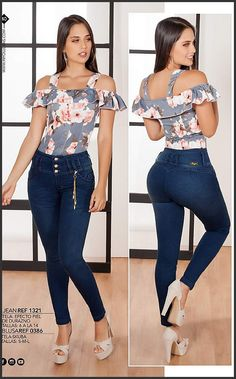 Pin by Magic Cola Fashion Corp on Nueva Coleccion Junio 2018 in 2019 Trendy Fashion, Girl Fashion, Fashion Dresses, Womens Fashion, Casual Fall Outfits, Casual Wear, Cool Outfits, Sexy Jeans, Jeans Style