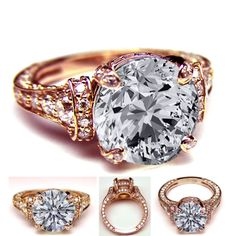 Vintage Pink Gold Engagement Ring, created by mdc-diamonds on Polyvore
