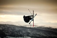 skiing helicopter trick!