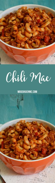 Chili Mac - Plus, a list of recipes, including chili mac, that would look delicious here on the blog. It also helps if the family likes them.