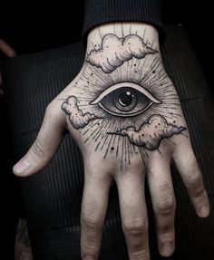80 Spectacular Black and Grey Tattoo Designs - TheTatt Unique Hand Tattoos, Full Hand Tattoo, Side Hand Tattoos, Wrist Tattoos For Women, Tattoos For Women Small, Finger Tattoos, Small Tattoos, Unusual Tattoo, Hand Palm Tattoos