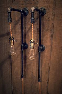 This single or pair of tall pipe plug-in sconces will add a dramatic effect to any room. Would be great for a bathroom at a double vanity! Ready for you to open the box and hang! These have already been wired with a vintage style cloth covered twisted cord, which lights an amazing and