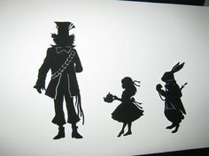 The Red Queen (Alice in Wonderland) Silhouette.