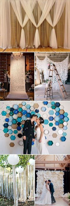 Top 20 Unique Backdrops for Wedding Ceremony Ideas Wedding ceremony inspiration - diy wedding backdrop ideas for 2015 wedding ceremony decorations. Wedding Ceremony Ideas, Wedding Ceremony Decorations, Backdrop Wedding, Reception Backdrop, Decor Wedding, Wedding Favors, Wedding Draping, Wedding Canopy, Wedding Church