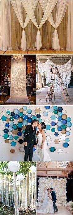 Wedding ceremony inspiration - diy wedding backdrop ideas for 2015 wedding ceremony decorations