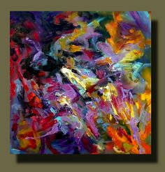 """""""Skull Back"""" - Oil On Canvas, in Abstract Expressionist Paintings"""
