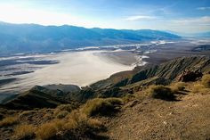 This is a photo of the southern part of Death Valley basin (Badwater Basin) taken from Dante's View.