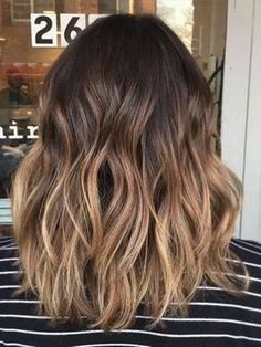 Clip in Remy Human Hair Extensions Balayage Ombre Color Dark Brown #2/6/18 120g 7pcs Full Head