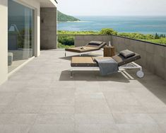 What do you think of this Outdoor idea I got from Beaumont Tiles? Outdoor Tiles Floor, Outdoor Porcelain Tile, Concrete Look Tile, Wood Tiles, Tile Flooring, Beaumont Tiles, Style Tile, Outdoor Furniture Sets, Outdoor Decor