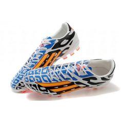 the latest 94c2f 67c74 Adidas Adizero Battle Pack Messi F50 AG Scarpe da calcio bianca Blu arancia   Scarpe da