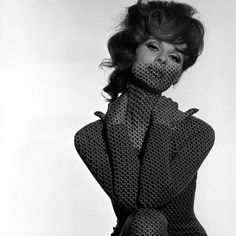 Chain Mail Projection on Model with Hands on her Neck, 1960s Giclee Print at AllPosters.com