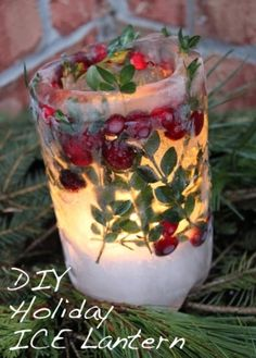 DIY Holiday ICE Lanterns + How to Scent Trick! by tania