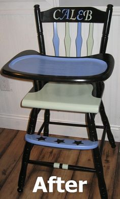 refabbed highchair