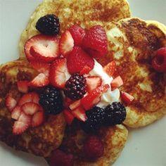 Greek Yogurt Pancakes - perfectly tasty, quick, healthier, and easy! Allrecipes.com