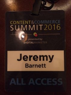 So I made it through Day 1 of the 3 day Content and Commerce Summit. So much amazing information to take in and learning from the best business and marketing minds in the world.  Biggest challenge for a guy like myself with ADHD is sitting still for 8 hours and trying like hell to pay attention without zoning off. 2 more days left to go. Hope I can keep it together, stay focused and learn as much as possible from these incredible mentors.