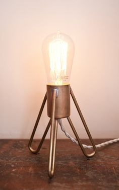 Retronaut - Rocket Lamp with Edison Bulb