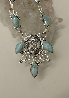 Beautiful Larimar Necklace by KarinsForgottenTreas on Etsy
