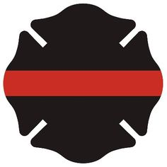 "TheFireStore: Red Line ""Firefighter"" Identifier Decal, Maltese Cross #TheFireStore"
