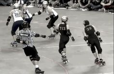 Finding the holes and sneaking through. You Should Be Watching More Roller Derby Footage