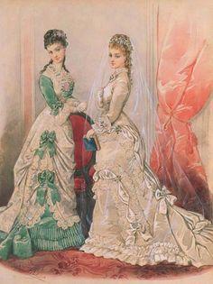 Gallery.ru / Фото #23 - Свадебная мода. Акварельные рисунки из книг мод за 1861-1896 - irgelena