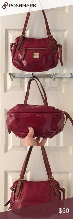 🛍 Dooney & Bourke Red Patent Leather Bag Mass posting Dooney & Bourke Bags Shoulder Bags