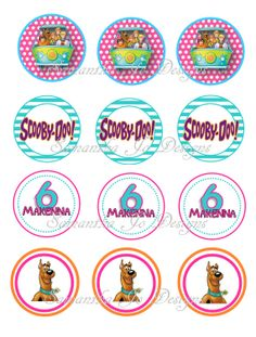 Personalized Scooby Doo Girl Birthday Cupcake by SamanthaJoDesigns, $4.00