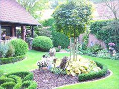 16 garden design front garden easy-care - New Ideas Backyard Inspiration, Beautiful Gardens, Backyard Garden, Home And Garden, White House Garden, Luxury Garden, Backyard Landscaping, Front Garden, Diy Garden