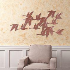 Harper Blvd Flock of Geese Wall Art, Brown copper Gold Metal Wall Art, Circle Metal Wall Art, Metal Wall Decor, Metal Walls, Metal Art, Wall Art Decor, Copper Wall, Dragonfly Wall Art, Butterfly Wall Art