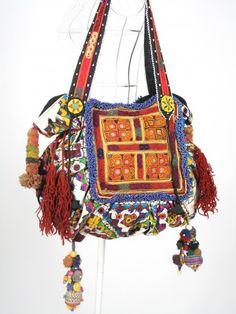 Women Hippie Bohobag vintage textiles  One of a Kind N0105