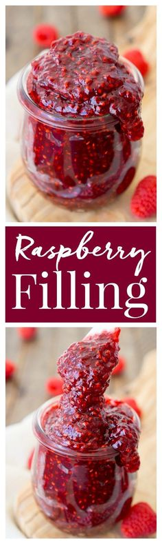 This Easy Raspberry Fillingrecipe takes just four ingredients and 20 minutes to make! It's the perfect addition to cakes and pastries!