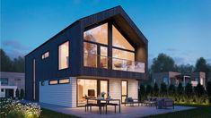 Bilderesultat for murhus 2018 Hanging Canvas, Modern Kitchen Design, Building A House, Gallery Wall, Minimalist, Layout, Exterior, Mansions, Architecture